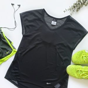 Nike Black Relay Running Shirt Women's XS NWT